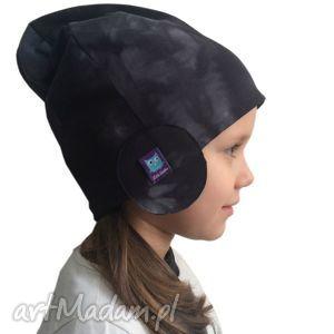 dla dziecka czapka pilotka, wzór mazy, czapka, czapa, dresówka
