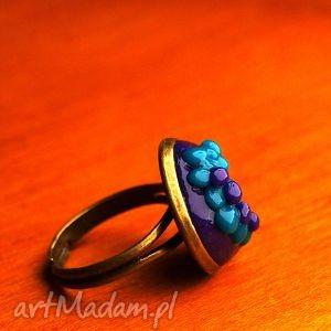 oryginalny prezent, zaamotanazofja pierścionek winogronko, pierścionek, regulowany