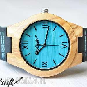 Drewniany zegarek OLIVE WOOD BLUE women, drewno, drewniany, zegarek, damski, oliwka