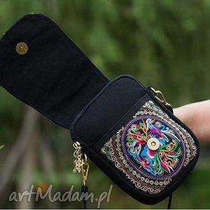 Prezent torba damska haftowana etniczna na ramię, haftowana, etniczna, kolorowa