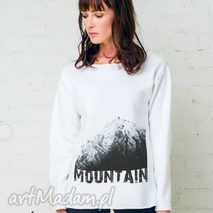 MOUNTAIN Oversize Bluza, oversize, bluza, biała, bawełna, casual, moda