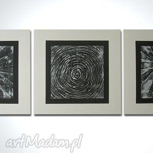 120x40cm - NOWOCZESNY CZARNO BIAŁY, obraz, nowoczesny, płótno, czarno, biały