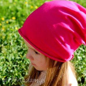 handmade czapki benie czapka dresowa smerfetka różowa / granat