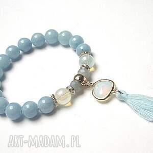 Chwościk -opal blue /02-02-17/, jadeity, szkło, chwost