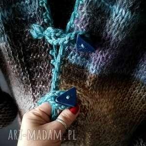 handmade swetry kolorowy kardigan boho