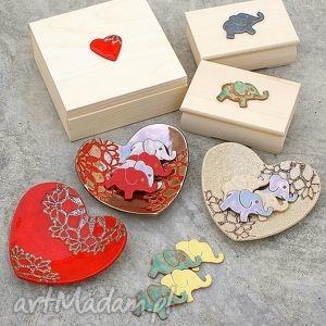 zamówienie specjalne, miseczki, słoniki, pudełko, magnesy, romantyczne, folkowe dom