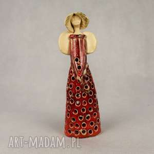 anna pokrzywnicka anioł ceramiczny lampion, ceramiczny, ręcznie wykonany