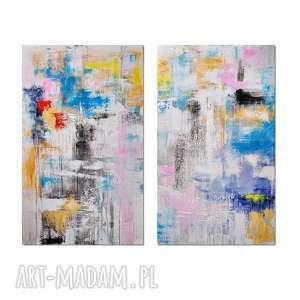 hybryd s, abstrakcja, nowoczesny obraz ręcznie malowany, obraz, ręcznie, malowany