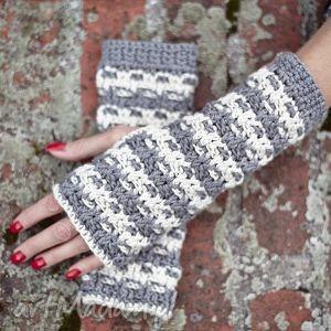mitenki przeplatanka - mitenki, rękawiczki, bawełna, prezent, wiosna