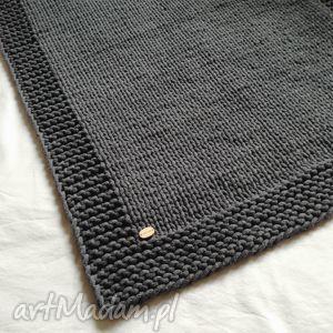Grafitowy dywan / chodnik ze sznurka bawełnianego, dywan, chodnik, rękodzieło