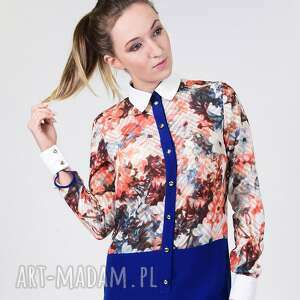 Koszula w kwiaty z jedwabiem bluzki anna bartula koszula