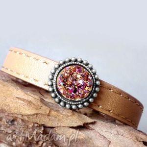 hand made bransoletki iskry fioletowo złote- piękna unikatowa bransoletka