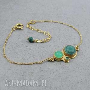 kalejdoskop malachitowy, delikatna, subtelna, kobieca, złota, elegancka, malachit