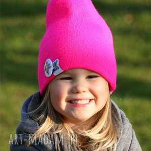 ręcznie robione czapki bunny pinky