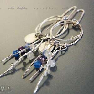 srebro, kolczyki peridoty na szpilkach, peridoty, kwarce, obrecze, kolczyki