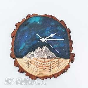drewniany zegar ścienny, zegar, kosmos, drewno, drewniany, zegarek, las dom