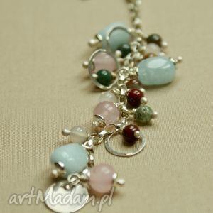 bransoletka pastelowa - tilia, pastelowa, romantyczna, kobiece, akwamaryn, delikatne