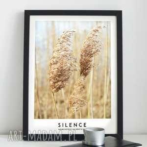ręcznie wykonane plakaty silence nature plakat 30x40