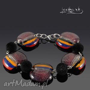 handmade wrzosowa bransoletka