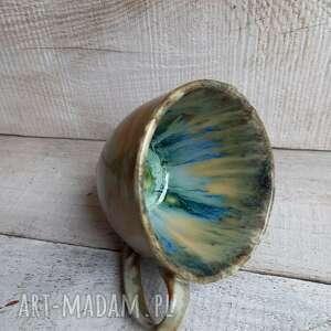 kubki wyjątkowa duża filiżanka z niepowtarzalnym wnętrzem, ceramiczna