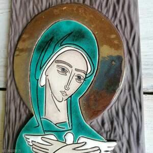 ikona ceramiczna z wizerunkiem maryi - pneumatofora, ślub, ikona, obraz, maryja
