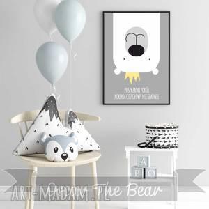pokoik dziecka plakat posprzątaj pokój format a3, miś, korona, plakat, obrazek