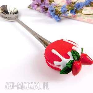 Słodka łyżeczka z makaronikiem dekoracje viviart makaronik,