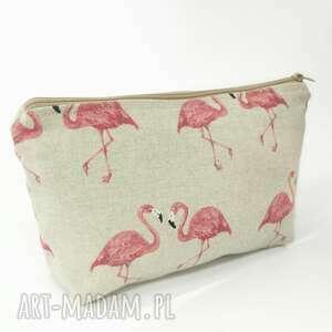 handmade kosmetyczki flamingi
