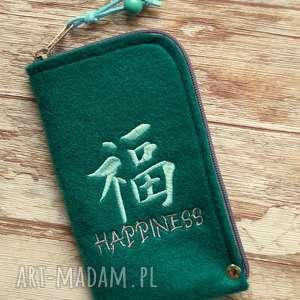 Prezent Filcowe etui na telefon - happiness, etui, pokrowiec, smartfon, szczęście