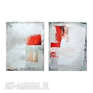 the red column, abstrakcja, nowoczesny obraz ręcznie malowany - obraz, abstrakcja