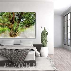 obraz drzewo 37 - 120x70cm na płótnie do salonu dąb, obraz, drzewo