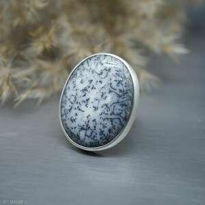 agat dendrytowy pierścionek thamior, srebrny pierścionek, rozmiar regulowany