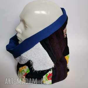 Ruda Klara: komin patchworkowy boho handmade kolorowy - box d1