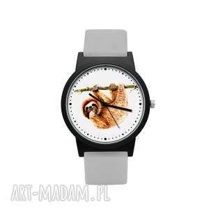 hand made zegarki zegarek z silikonowym paskiem leniwiec