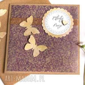 ręczne wykonanie kartki kartka ślubna :: handmade :: rustic