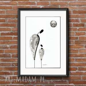obraz 30 x 40 cm malowany ręcznie, do salonu, minimalizm, obrazy-ręcznie-malow