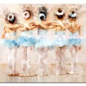 obrazy obraz xxl baletnica 12 -90x50cm design na płótnie baletnice, baletnice