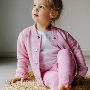 dres róż kwarcowy - bomberka, dziewczynka, rękodzieło, dres, komplet, bomberka