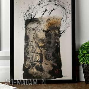 nowoczesny obraz abstrakcja akwarela Sztuka latania, 30x42, plakat ilustracja do