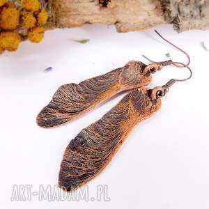 Noski - kolczyki miedziane viviart wiszące kolczyki, długie
