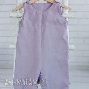 Kombinezon lniany , len, dziewczynka-spodnie, letnie-spodnie, spodnie, kombinezon