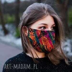 bawełniana z nadrukiem maseczka 5szt, maska, maseczka, ochronna, drukowana