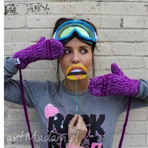 rękawiczki mode 1 - rękawiczki, braininside, handmade, zima