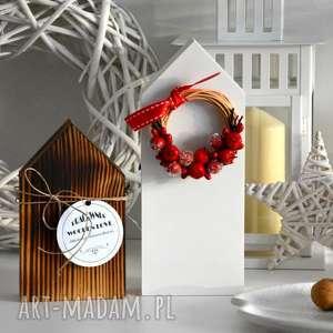 dekoracje domki drewniane, domek, domki, wianek, wianki, drewniany