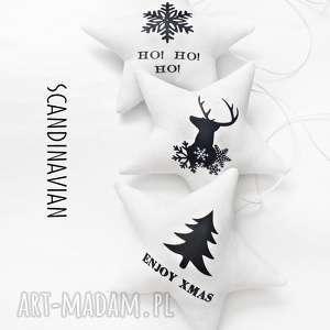 scandinavian - gwiazdeczki do zawieszenia, gwiazdka, gwiazdki, scandynawskie, choinka