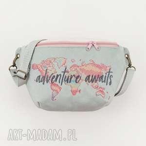 nerka xxl adventure awaits, nerka, podróże, pastelowa, torebka, saszetka,