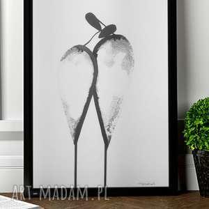 nowoczseny obraz do salanu, nowoczesna abstrakcja, grafika czarno-biała