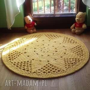 Dywan słoneczko ineverashop szydełkowy, okrągły, do pokoju