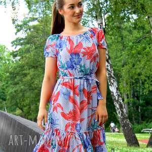 hand-made sukienki sukienka marita w tropikalny wzór