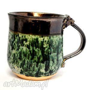 ceramiczny kubek - męski b, kubek, naczynie, ceramika, użytkowe, unikat, spożywcze